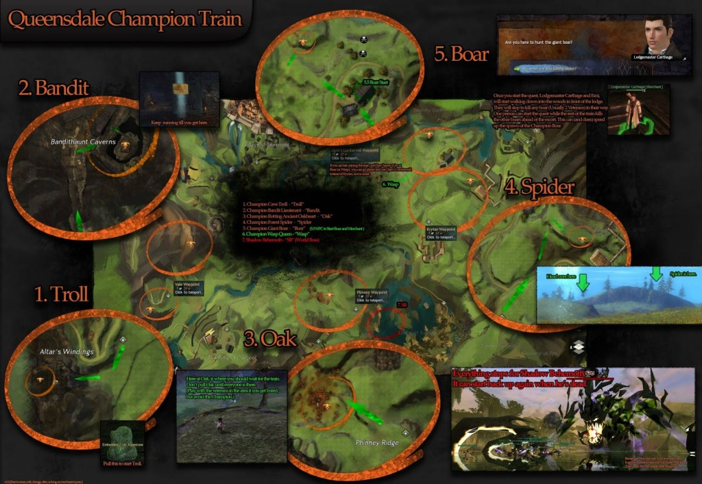 Queensdale Champion Train Guide Guild Wars 2